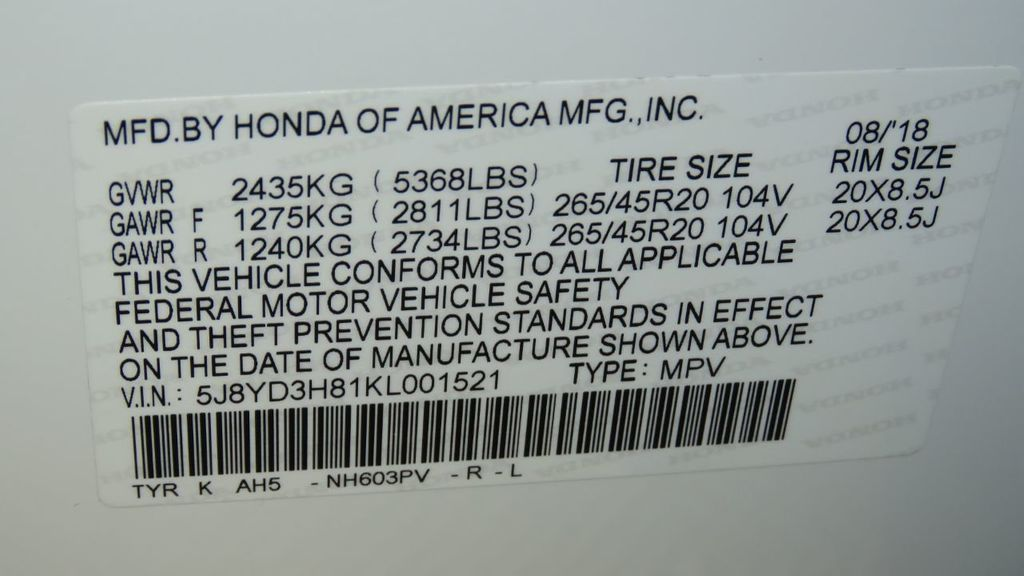 2019 Acura MDX FWD w/Advance Pkg - 18083186 - 36