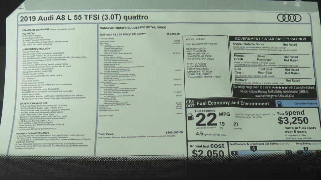 2019 Audi A8 L 3.0 TFSI - 18388967 - 8