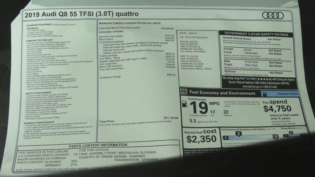2019 Audi Q8 3.0 TFSI Premium - 18548915 - 8