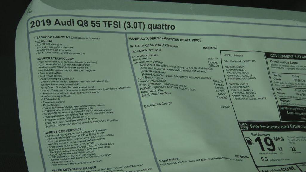 2019 Audi Q8 3.0 TFSI Premium - 18577293 - 8
