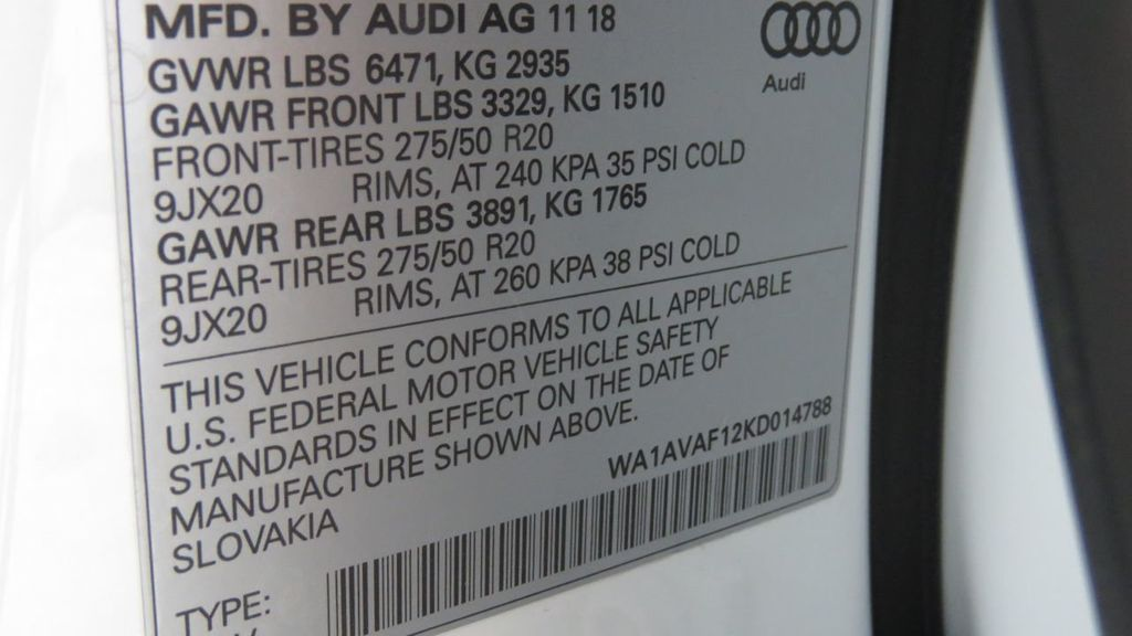 2019 Audi Q8 3.0 TFSI Premium - 18631761 - 35