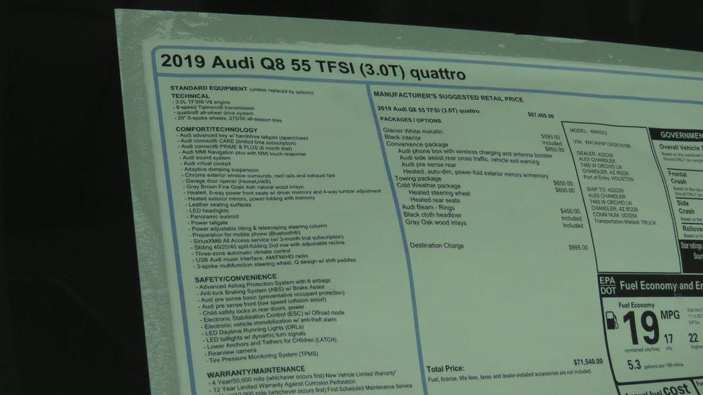 2019 Audi Q8 3.0 TFSI Premium - 18631761 - 8