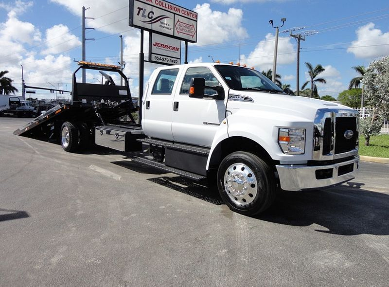 2019 New Ford F650 CREW CAB..22FT XLP-6 JERRDAN ROLL-BACK SHARK.AIR RIDE. at Tri Leasing Corp ...