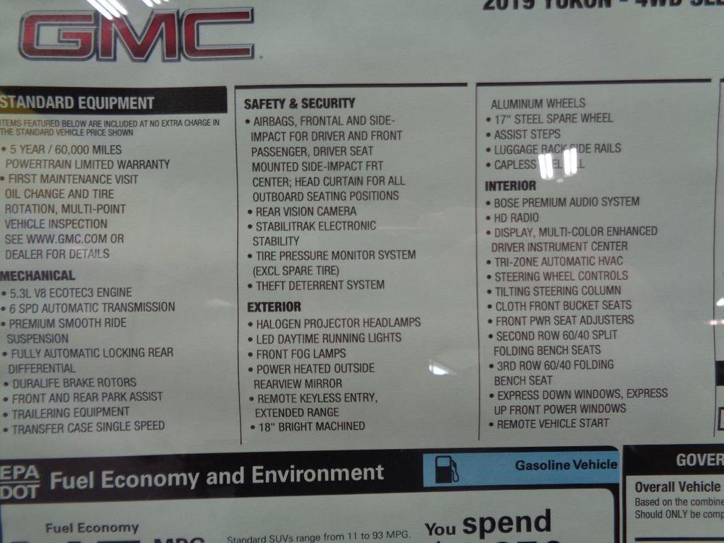 2019 GMC Yukon 4WD 4dr SLE - 17947543 - 5