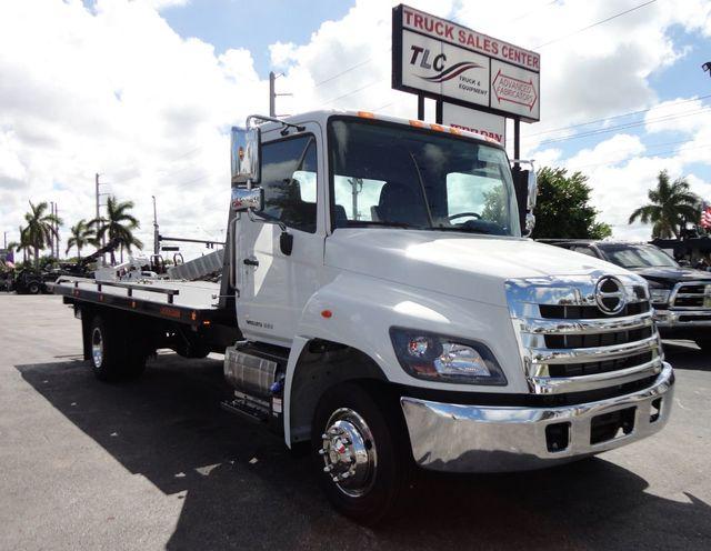2019 New Hino 258lp 21ft X 102 Wide Rollback Tow Truck Jerrdan Car