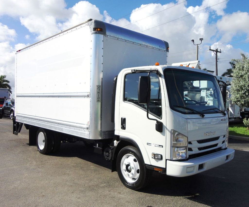 2019 Isuzu NPR HD 16FT DRY BOX.TUCK UNDER LIFTGATE BOX TRUCK CARGO TRUCK - 19500745 - 0