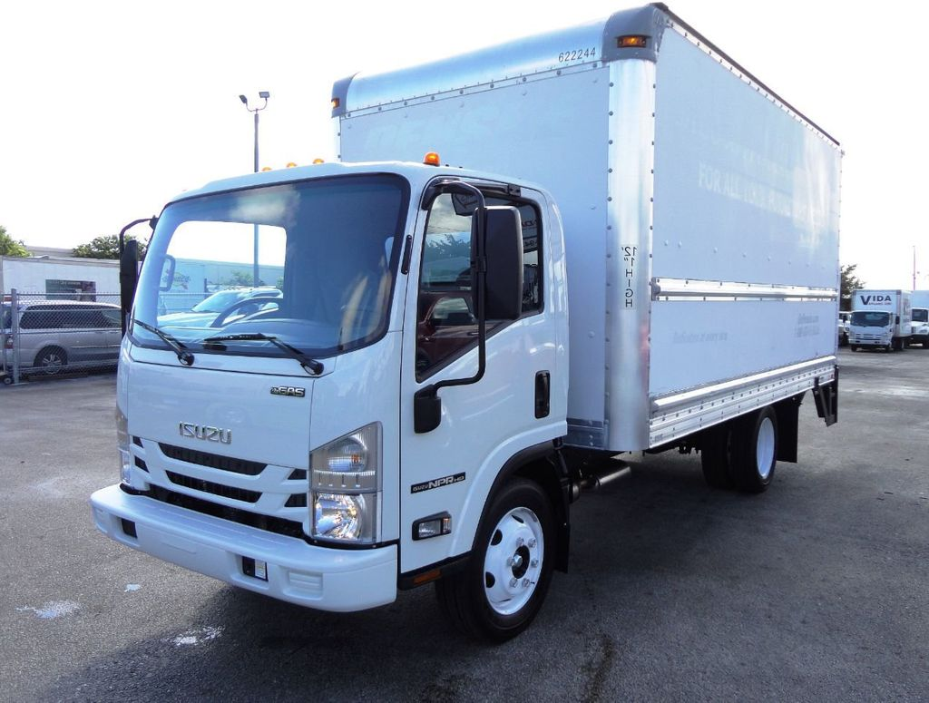 2019 Isuzu NPR HD 16FT DRY BOX.TUCK UNDER LIFTGATE BOX TRUCK CARGO TRUCK - 19500745 - 1