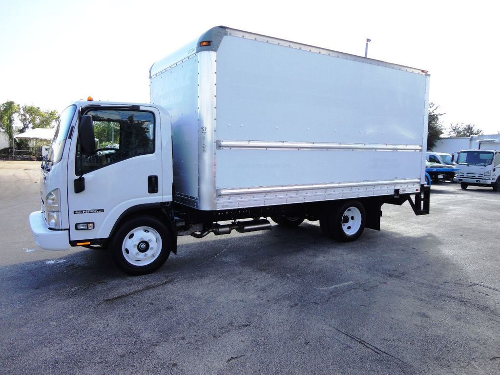 2019 Isuzu NPR HD 16FT DRY BOX.TUCK UNDER LIFTGATE BOX TRUCK CARGO TRUCK - 19500745 - 2