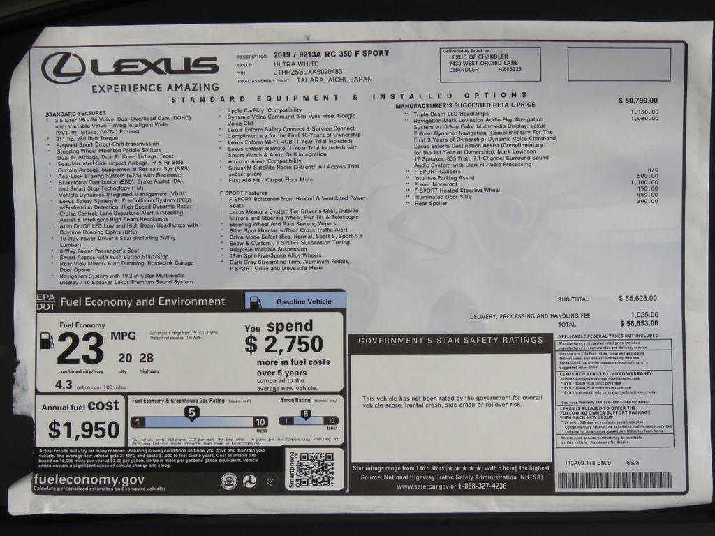 2019 Lexus RC RC 350 F SPORT RWD - 18896495 - 8