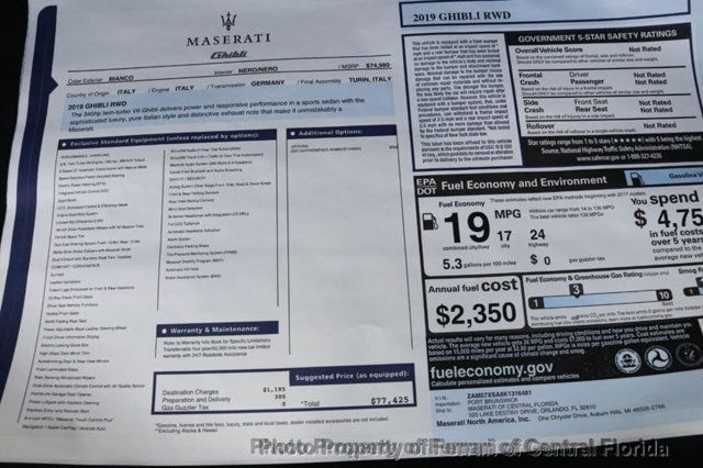 2019 Maserati Ghibli  - 18141961 - 42