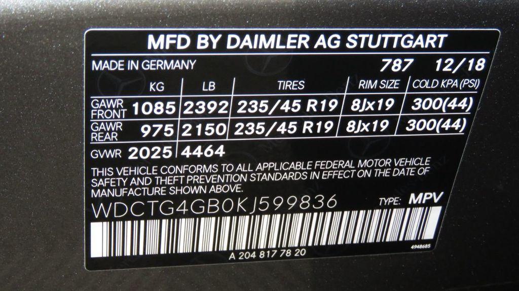 2019 Mercedes-Benz GLA GLA 250 4MATIC SUV - 18610020 - 34