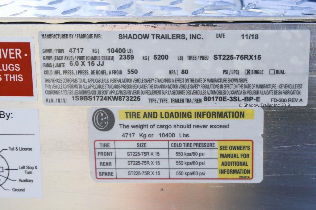 2019 Shadow 3 Horse KingPro SuperWide Draft Trailer  - 18570087 - 15