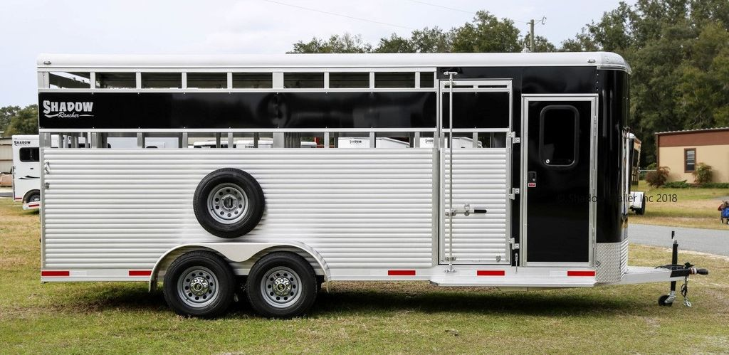 2019 Shadow Rancher Stock Trailer w/ Tack Room  - 18485150 - 4