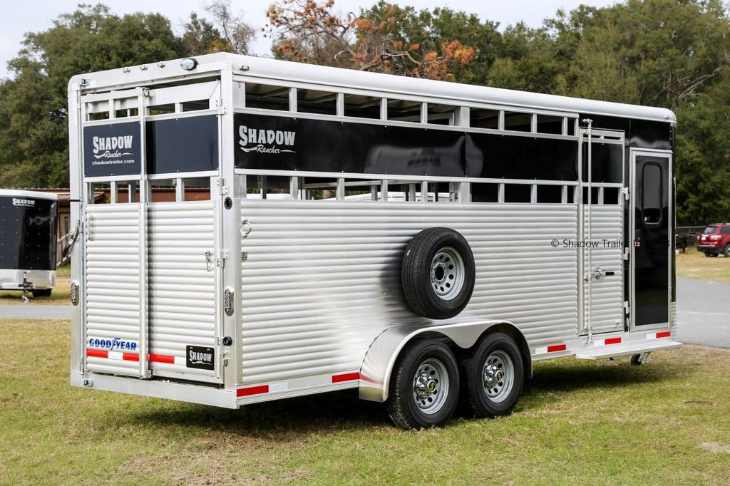 2019 Shadow Rancher Stock Trailer w/ Tack Room  - 18485150 - 5