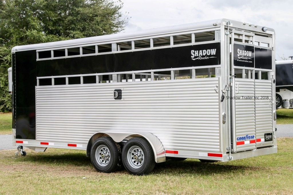 2019 Shadow Rancher Stock Trailer w/ Tack Room  - 18485150 - 6
