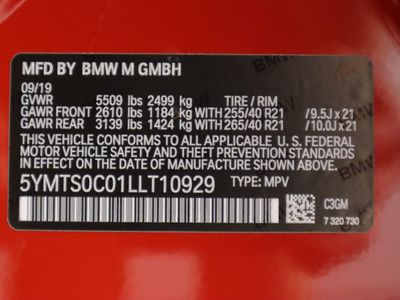 2020 BMW X3 M Competition Sports Activity Vehicle SAV - Click to see full-size photo viewer