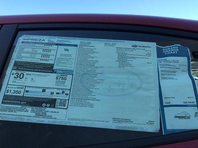 2020 Subaru Impreza Sport 4-door CVT Sedan - Click to see full-size photo viewer