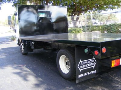 New 7017 ADVANCED FABRICATORS 14FB96W ..14ft Steel Flat Bed Body