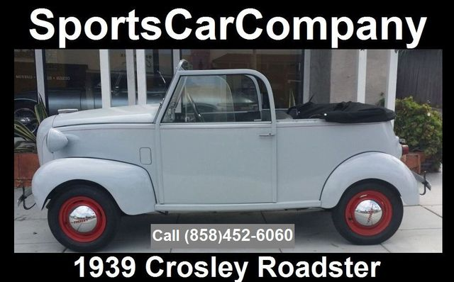 1939 CROSLEY ROADSTER 1939 CROSLEY ROADSTER