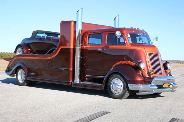 1947 Ford Coe Car Hauler Truck Crew Cab Extra Long Bed For Sale
