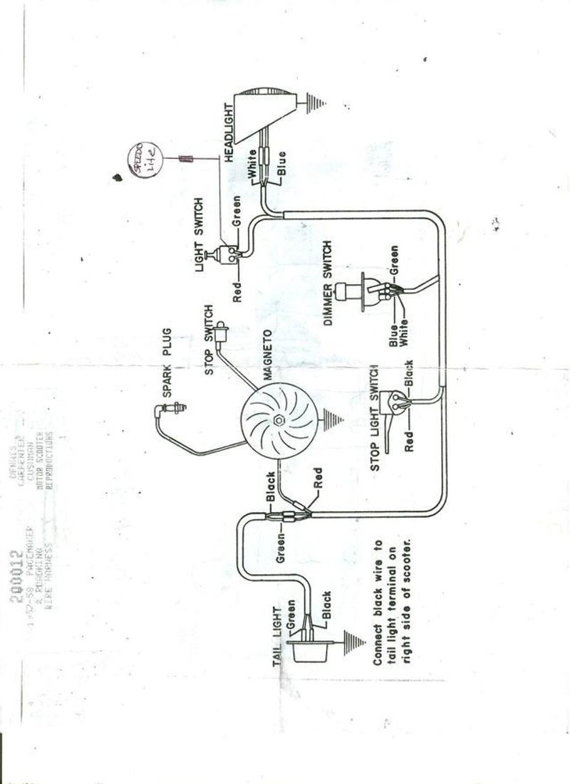 Cushman Flatbed Wiring Diagram Library Diagrams Scooter For Light Switch U2022 Silver Bomber Electric