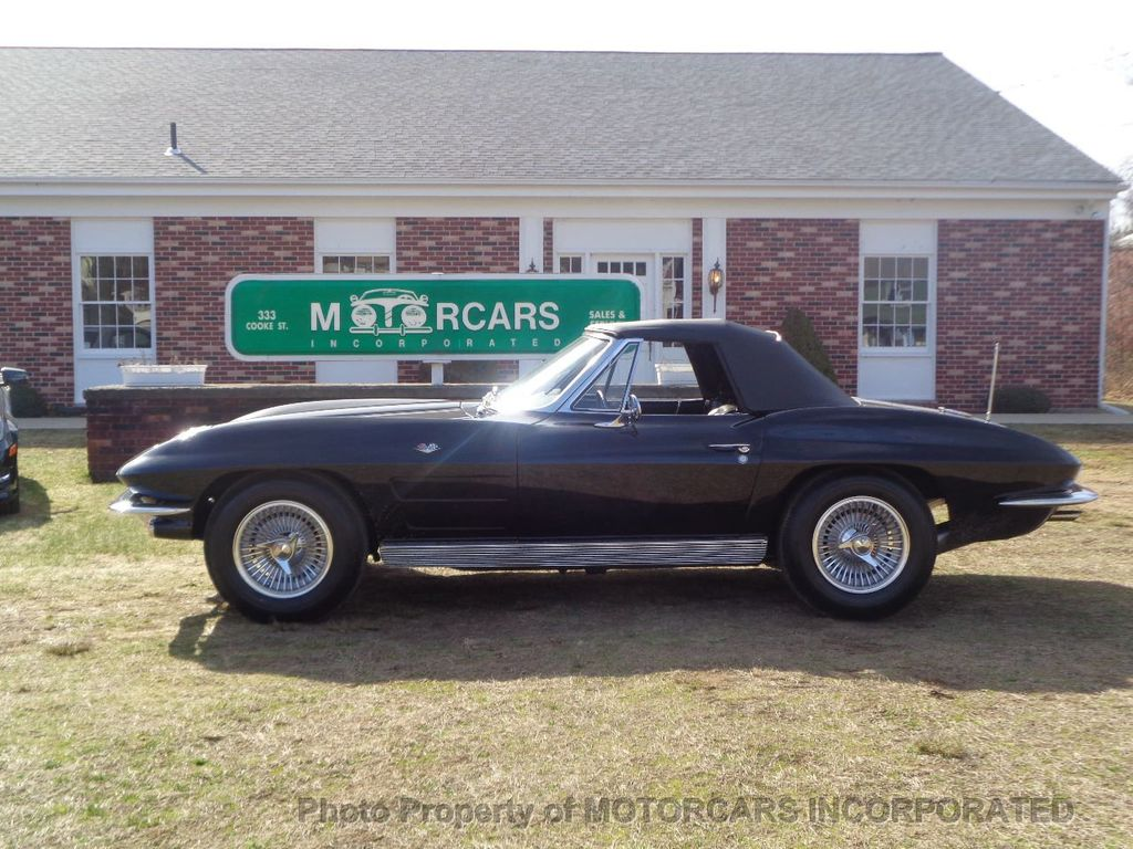 1963 Chevrolet CORVETTE CONVERTIBLE GORGEOUS TRIPLE BLACK!  - 16920003 - 0