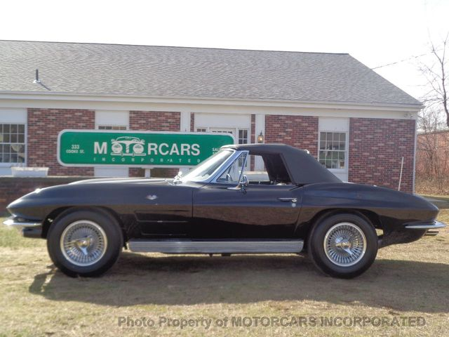 1963 Chevrolet CORVETTE CONVERTIBLE GORGEOUS TRIPLE BLACK!  - Click to see full-size photo viewer