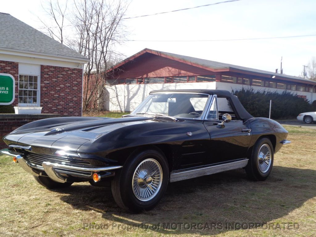 1963 Chevrolet CORVETTE CONVERTIBLE GORGEOUS TRIPLE BLACK!  - 16920003 - 4