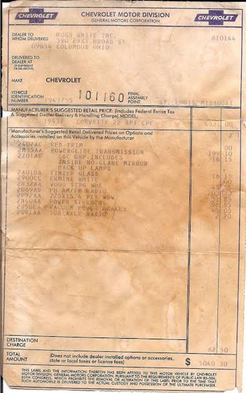 1965 Chevrolet Corvette Survivor - 6127209 - 48