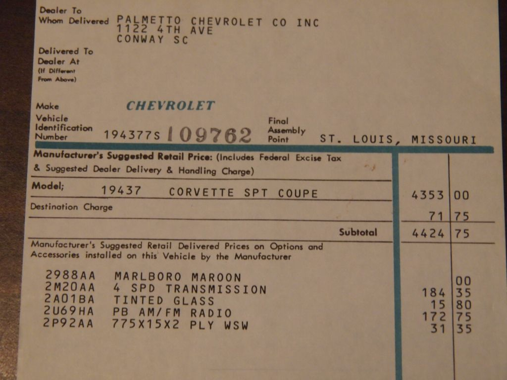 1967 Chevrolet Corvette Stingray Not Specified - 194377S109762 - 53