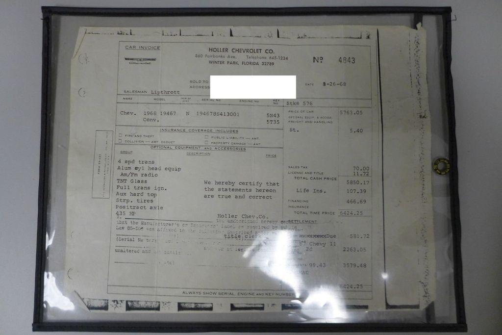 1968 Chevrolet Corvette  - 17961691 - 95
