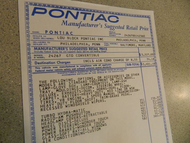 1968 Pontiac GTO For Sale - 12671026 - 16