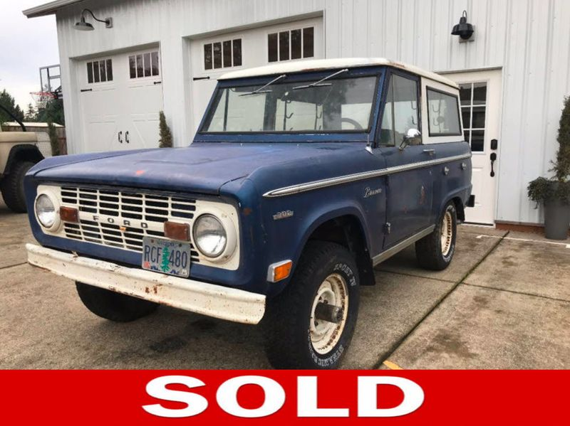 1969 Ford Bronco Completely Stock - 302, 3spd Manual. Very Straight Body!  - 17060320 - 0