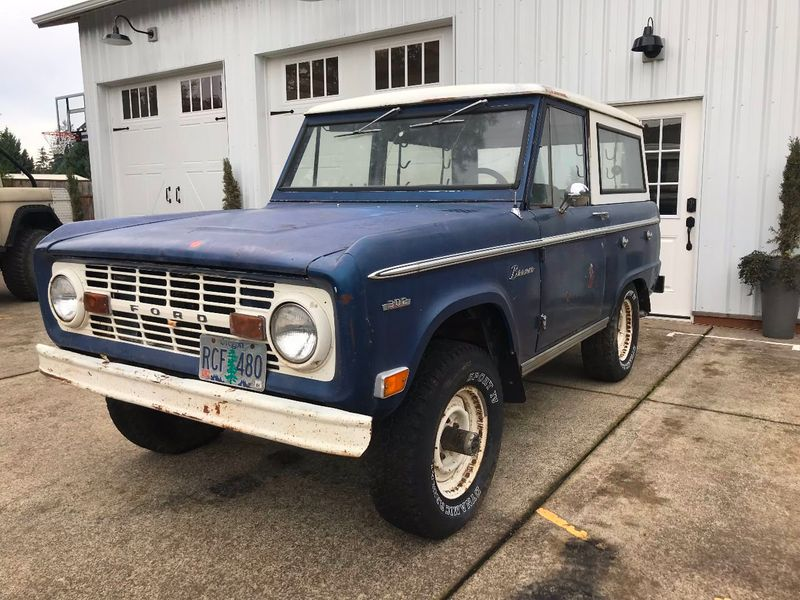 1969 Ford Bronco Completely Stock - 302, 3spd Manual. Very Straight Body!  - 17060320 - 1