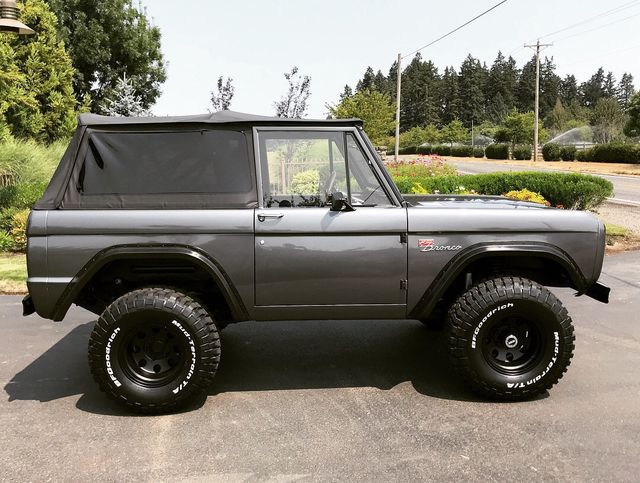 1970 Ford Bronco Fresh Custom Resto in Gun Metal Metallic!  - 17420731 - 3