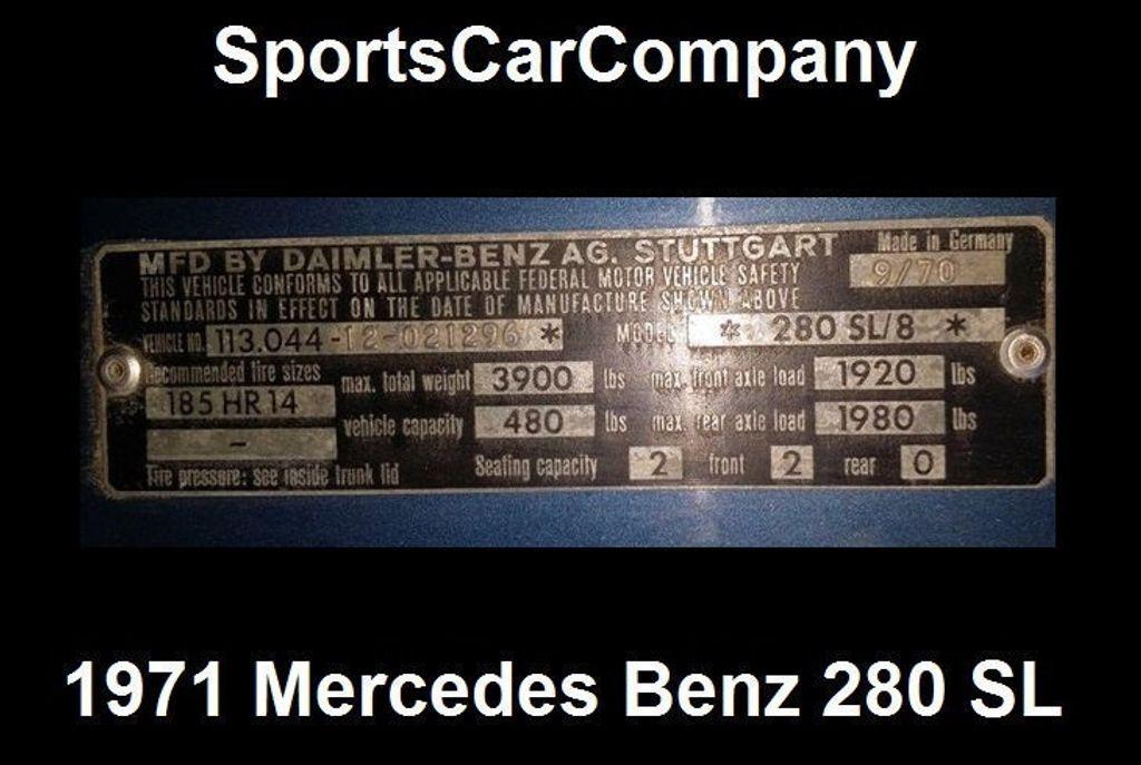 1971 Mercedes-Benz 280 SL  - 15561758 - 72