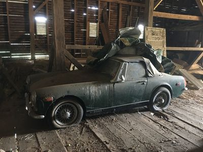 1971 MG MIDGET BARN FIND STORED FOR 28 YEARS LAST INSPECTED 1991 RUNS Convertible