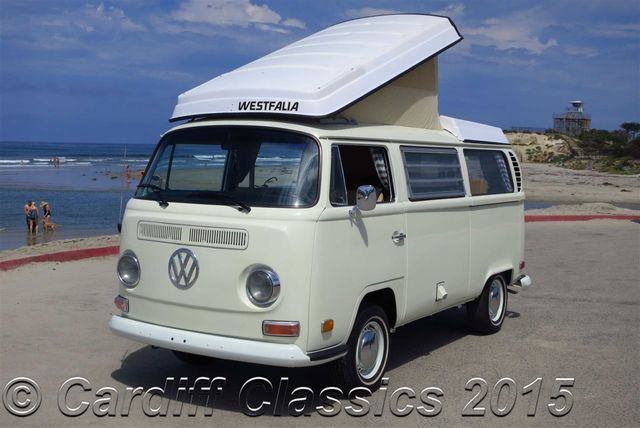 Camper Van For Sale >> 1971 Used Volkswagen Westfalia Bus Type 2 Bay-Window Pop-Top at Cardiff Classics Serving ...