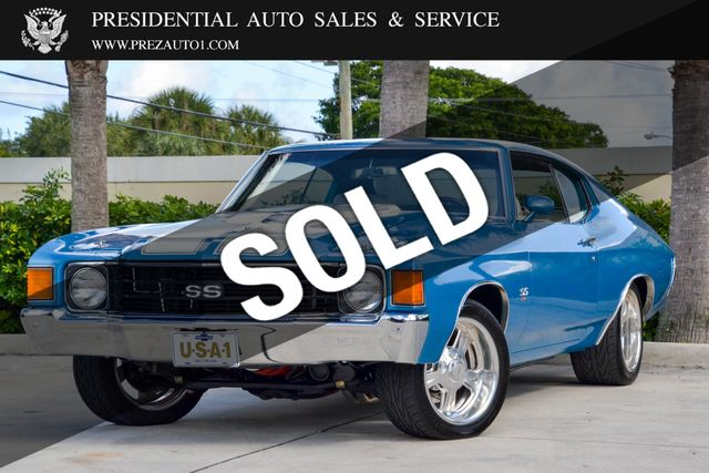 1972 Used Chevrolet Chevelle Ss At Presidential Auto Sales Service And Leasing Serving Palm Beach Boca Raton Delray Beach Fl Iid 20444032