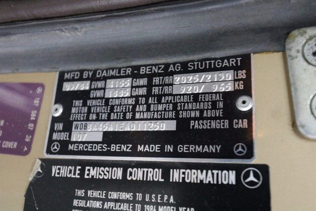 1984 Mercedes-Benz 380 SL Not Specified - WDBBA45A1EA011250 - 26