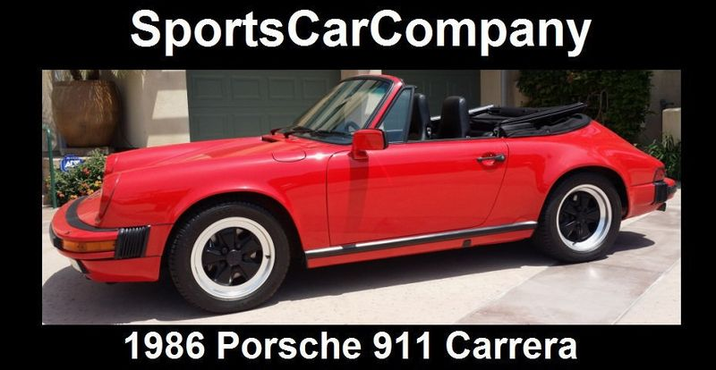 1986 Used Porsche 911 911 Carrera At Sports Car Company Inc
