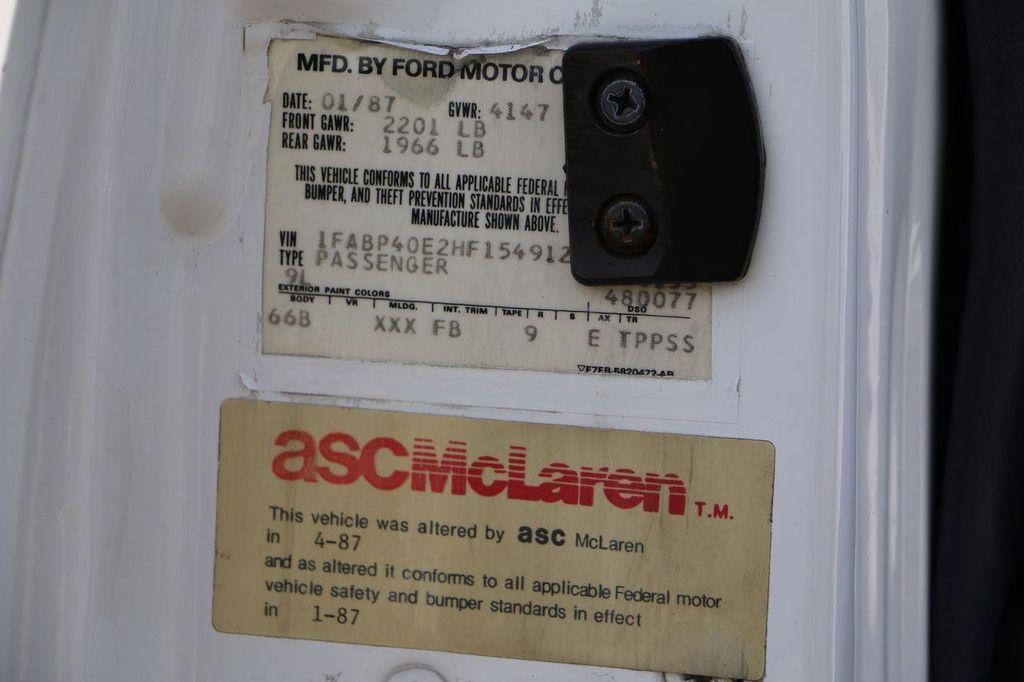 1987 Ford Mustang McLaren - 12362974 - 80