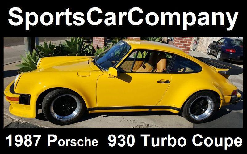 1987 Porsche 930 TURBO COUPE Carrera - 17193028 - 1
