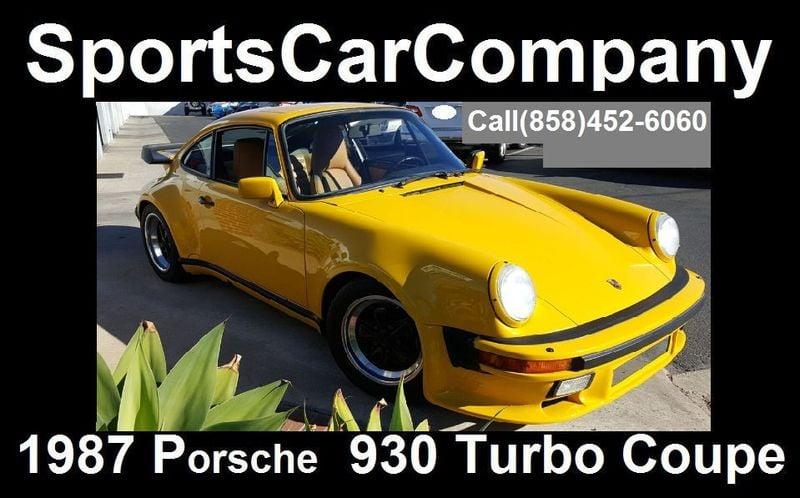 1987 Porsche 930 TURBO COUPE Carrera - 17193028 - 2