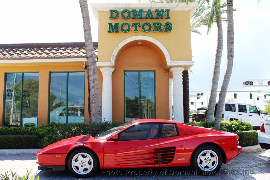 1989 Ferrari Testarossa CAVALLINO PLATINUM AWARD WINNING ONLY 11K MI MAJOR SERVICE DONE - 16713782 - 3