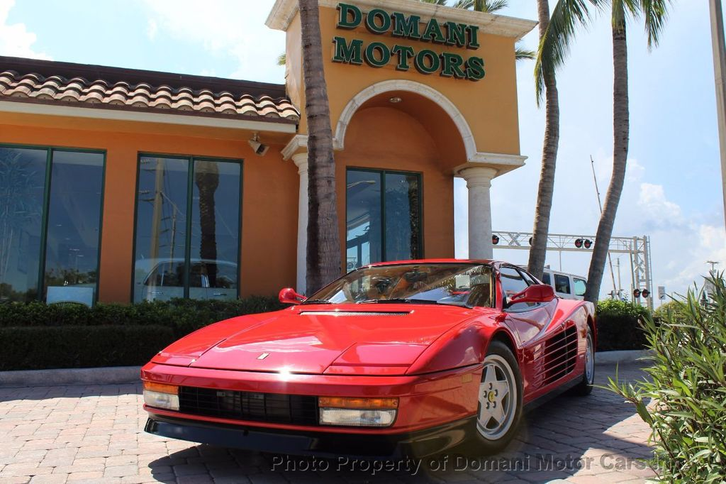 1989 Ferrari Testarossa CAVALLINO PLATINUM AWARD WINNING ONLY 11K MI MAJOR SERVICE DONE - 16713782 - 4