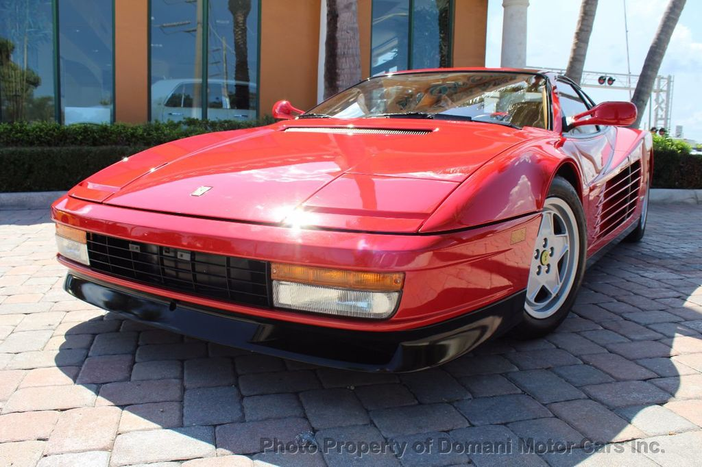 1989 Ferrari Testarossa CAVALLINO PLATINUM AWARD WINNING ONLY 11K MI MAJOR SERVICE DONE - 16713782 - 5
