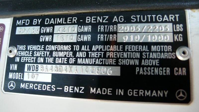 1989 Mercedes-Benz 560 Series SL - 10737841 - 81
