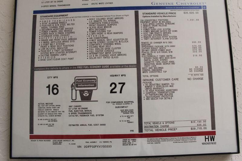 1997 Chevrolet Camaro 30th Anniversary Edition - 13695351 - 26