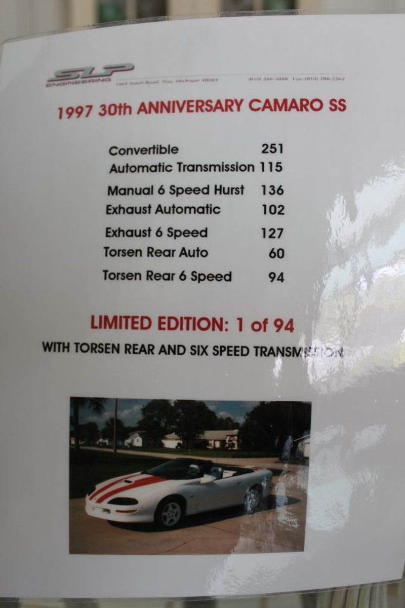 1997 Used Chevrolet Camaro 30th Anniversary Edition at WeBe Autos Serving  Long Island, NY, IID 13695351